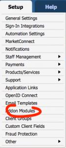 whmcs hooks settings module