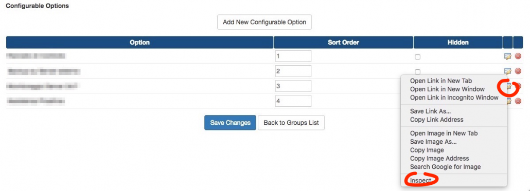 Check for manual renewal configurable options radio